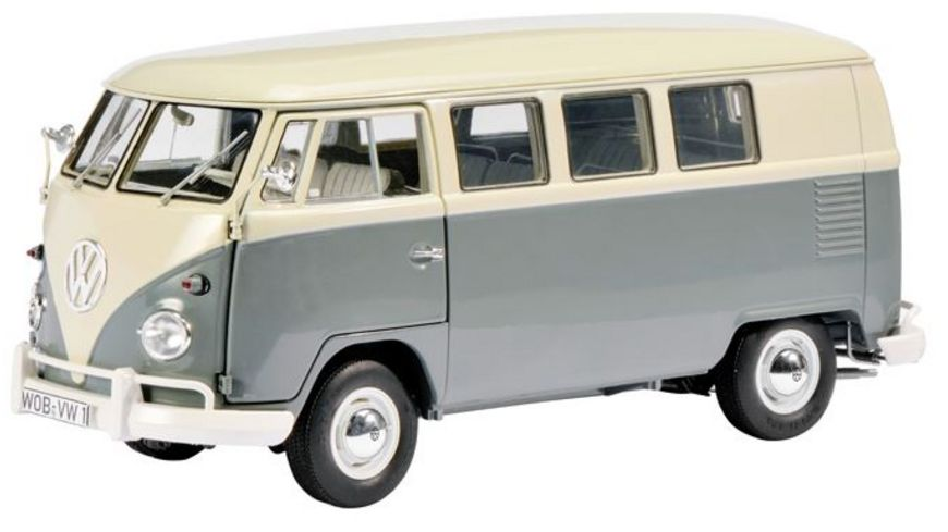 Schuco Edition 1 18 Limited Edition VW T1 Bus perlweiss mausgrau