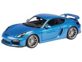 Schuco Edition 1 18 Limited Edition Porsche Cayman GT4 blau metallic