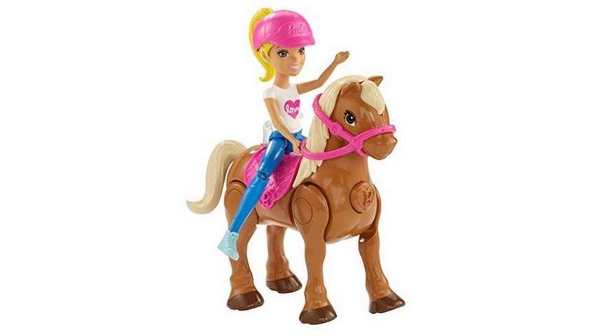 Mattel FHV60 Barbie On the Go Puppe mit Mini Pony