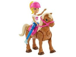 Mattel FHV60 Barbie On the Go Puppe mit Mini Pony