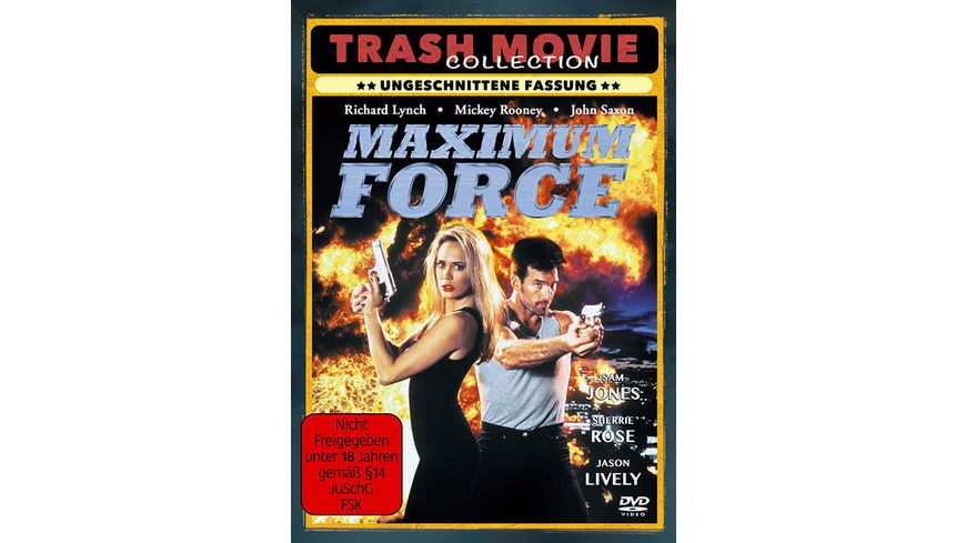 Maximum Force Uncut Cover TRASH 2 DVDs