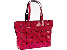 Tasche Dreiecksdesign pink