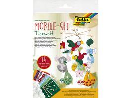 folia Mobile Bastelset 14teilig Tierwelt