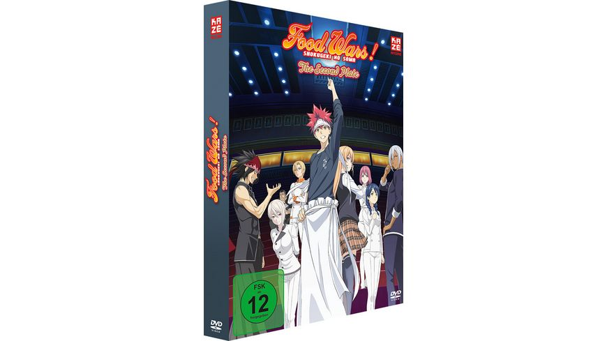 Food Wars The Second Plate 2 Staffel DVD 1 mit Sammelschuber Limited Edition
