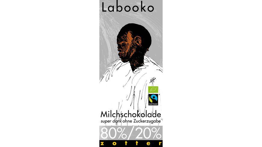 Labooko 80 20 Milchschokolade super dark