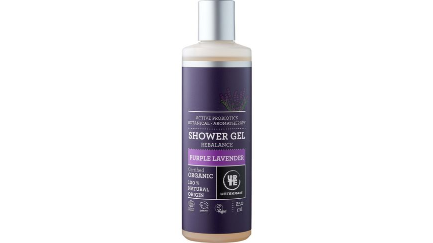 URTEKRAM Purple Lavender Shower Gel