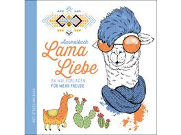 Ausmalbuch Lama Liebe