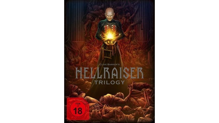 Hellraiser Trilogy Blu ray Deluxe Box Limited Edition Blu ray Set 5 Discs im Digipack Buch im Hartkarton Blu Ray