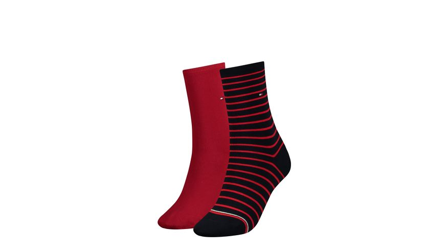 TOMMY HILFIGER Damen Socken Small Stripe 2er Pack