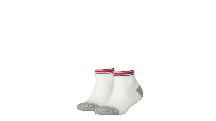 TOMMY HILFIGER Kinder Sport Socken Iconic Quarter unisex 2er Pack