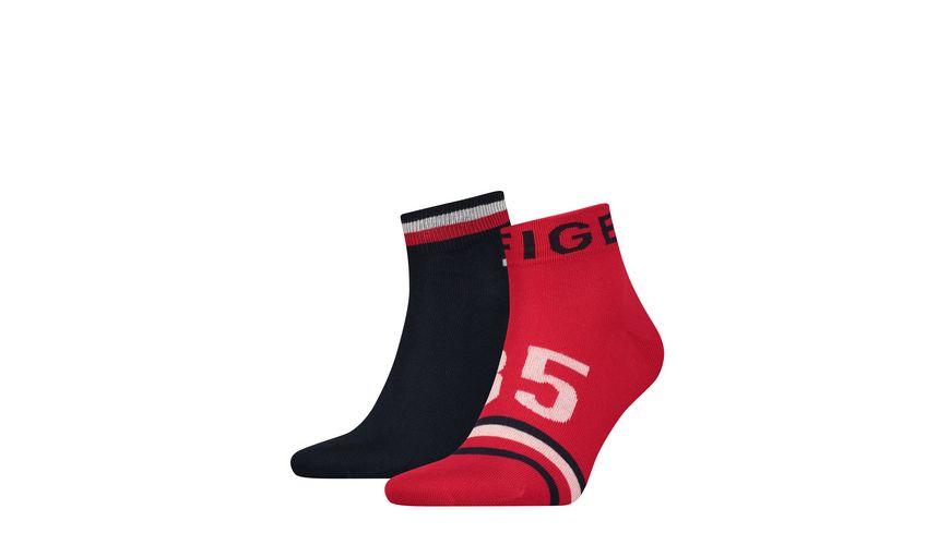 TOMMY HILFIGER Herren Socken Quarter 2er Pack