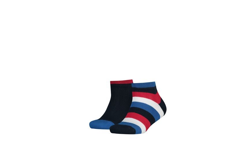 TOMMY HILFIGER Kinder Socken Stripe Quarter unisex 2er Pack