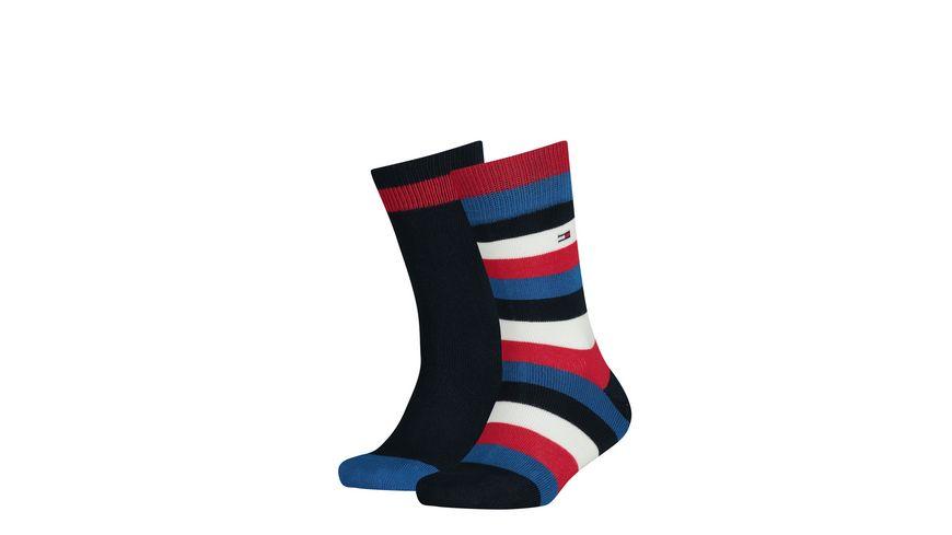 TOMMY HILFIGER Kinder Socken Stripe unisex 2er