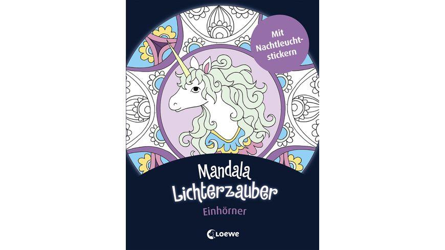 Buch Loewe Mandala Lichterzauber Einhoerner