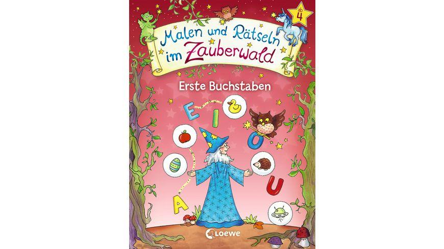 Buch Loewe Malen und Raetseln im Zauberwald Erste Buchstaben
