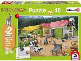 Schmidt Spiele Kinderpuzzle Schleich Ein Tag auf dem Bauernhof 40 Teile