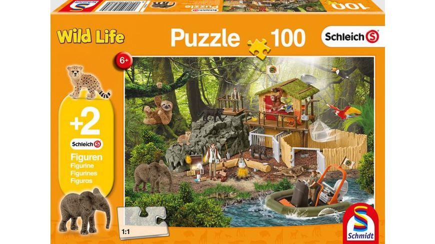 Schmidt Spiele Kinderpuzzle Schleich Forschungsstation Croco 100 Teile