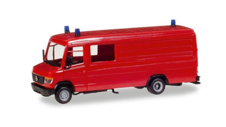 Herpa 013260 Herpa MiniKit Mercedes Benz Vario Langkasten GW A S rot inkl Rundumleuchten