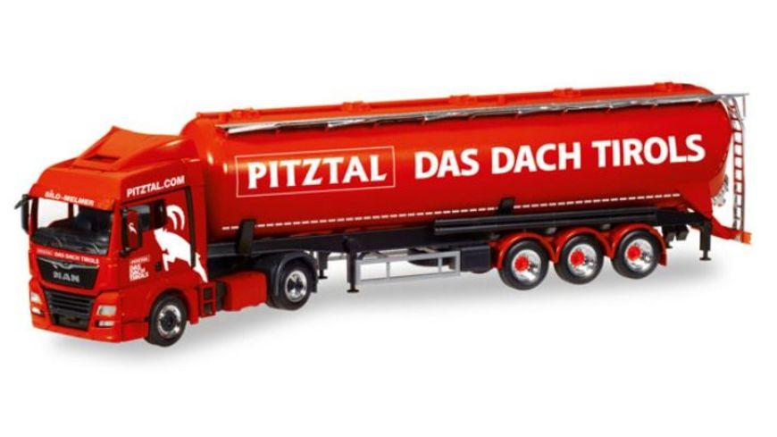 Herpa 308502 MAN TGX XLX Euro 6c Silo Sattelzug Melmer Pitztal Das Dach Tirols A