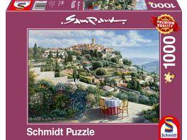 Schmidt Spiele Erwachsenenpuzzle Sam Park St Paul de Vence 1000 Teile