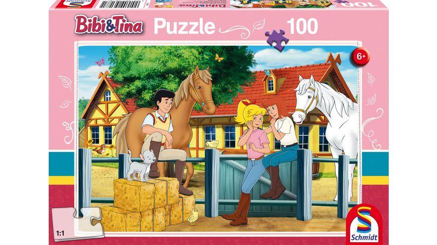 Schmidt Spiele Kinderpuzzle Bibi und Tina Auf dem Martinshof 100 Teile