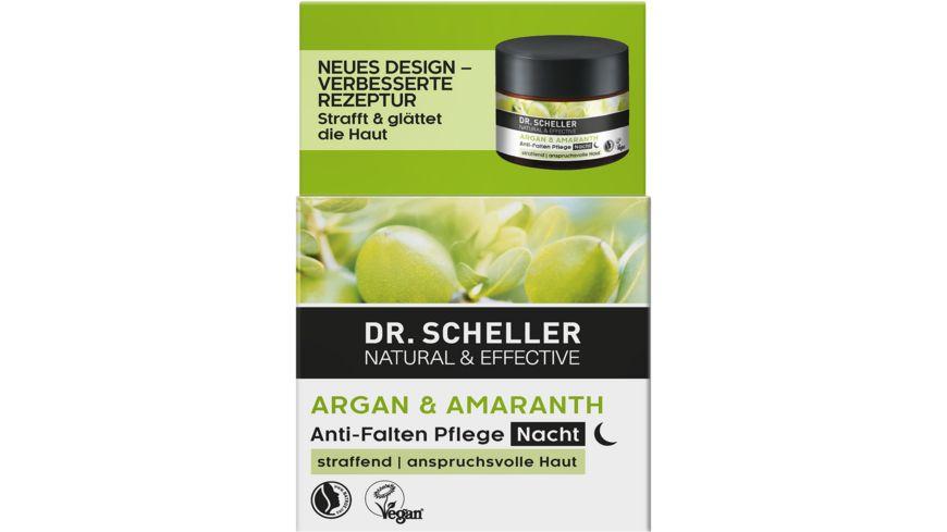 Dr Scheller Arganoel Amaranth Anti Falten Nachtpflege