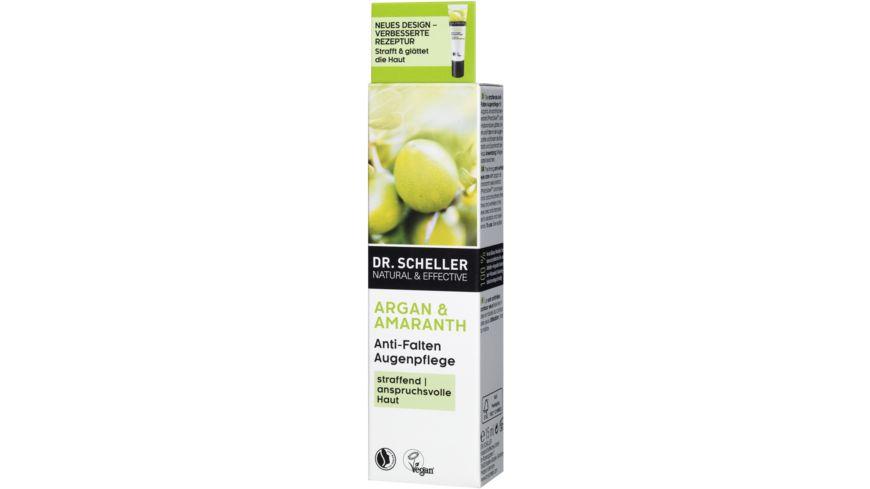 Dr Scheller Arganoel Amaranth Anti Falten Augenpflege