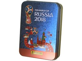 Panini FIFA World Cup Russia 2018 Sticker Tin Dose incl 5 Sticker Tueten