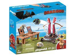 PLAYMOBIL 9461 Dragons Grobian mit Schafschleuder
