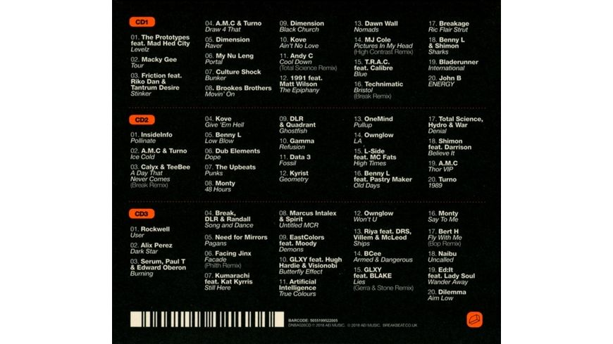 Drum Bass Arena 2018 3CD MP3