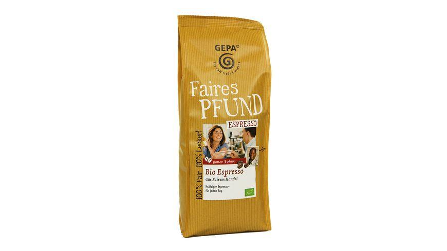 GEPA Bio Espresso Bohne faires Pfund