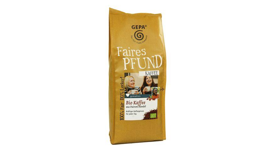 GEPA Bio Kaffee gemahlen faires Pfund