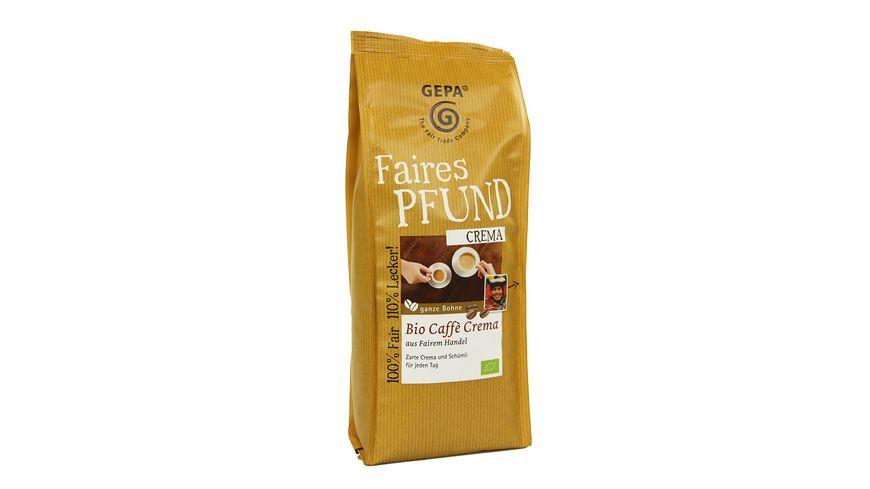 GEPA Bio CAFFE Crema Bohne faires Pfund