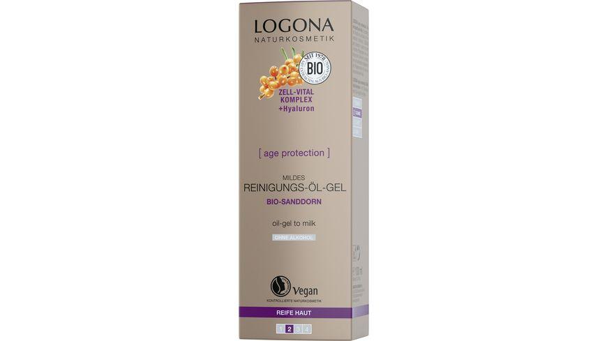 LOGONA age protection mildes Reinigungsoel Gel