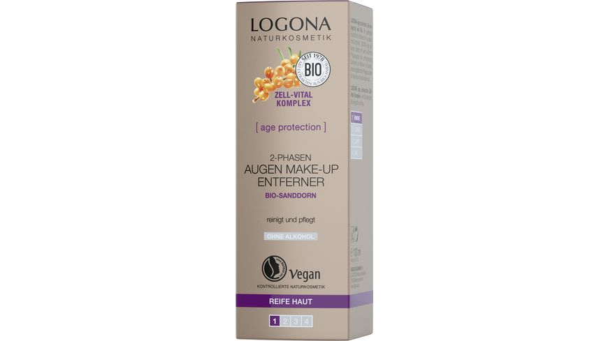 LOGONA age protection 2 Phasen Augen Make up Entferner