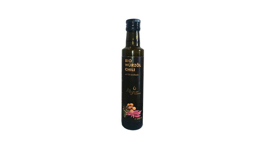Allgaeuer Oelmuehle Bio Wuerzoel Chili 250 ml
