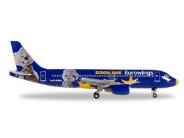 Herpa 530767 Eurowings Airbus A320 Europa Park D ABDQ