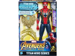 Hasbro Avengers Titan Hero Power FX Spider Man mit Power FX Pack