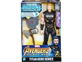 Hasbro Avengers Titan Hero Power FX Thor mit Power FX Pack