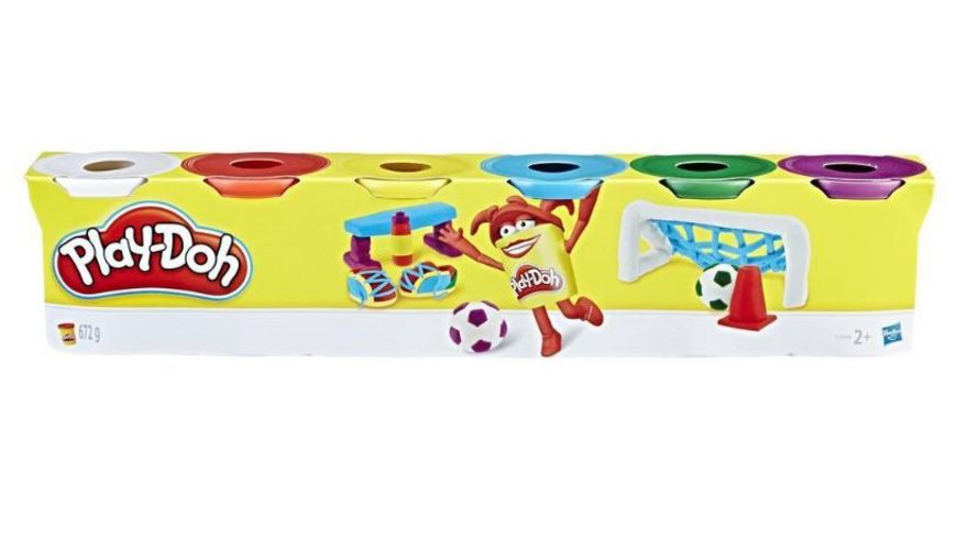 Hasbro Play Doh 6er Pack Knete Grundfarben