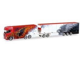Herpa 308489 Scania CS 20 HD Eurocombi Ristimaa Fire Bird FIN