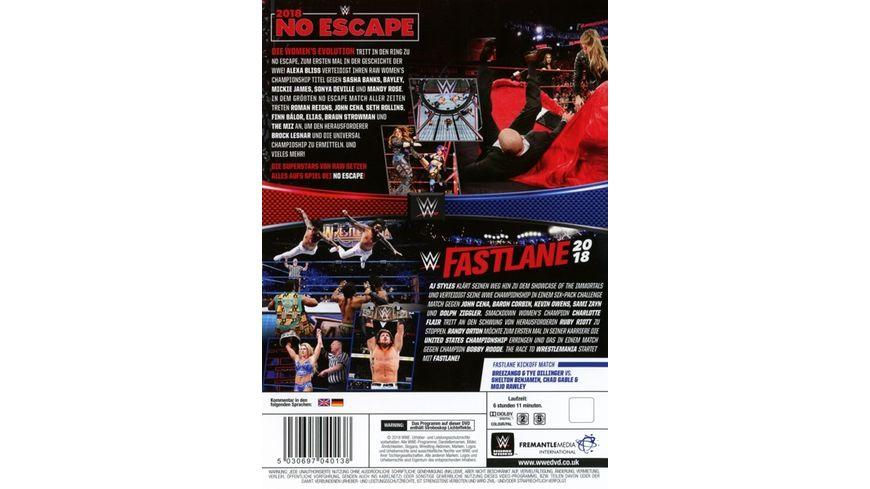 No Escape 2018 Fast Fastlane 2018 Double Feature 2 DVDs