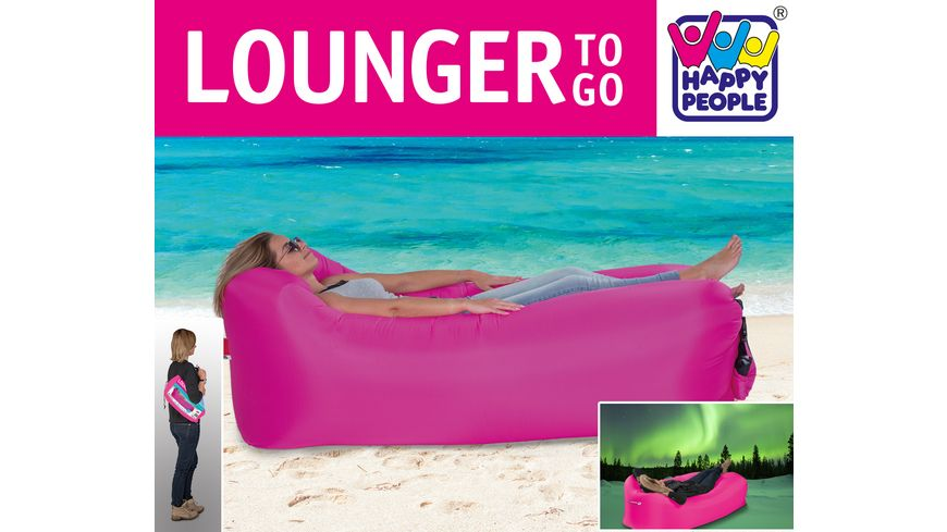 happy people lounger to go pink online bestellen mÜller