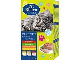 Pet Bistro Katzennassfutter Pasteten Variationen im Schaelchen