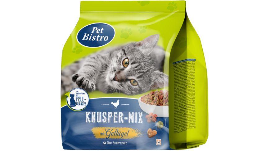 Pet Bistro Katzentrockenfutter Knusper-Mix mit Geflügel und Rind 1kg