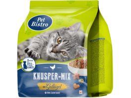 Pet Bistro Katzentrockenfutter Knusper Mix mit Gefluegel und Rind 1kg
