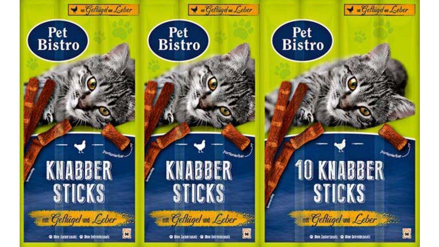 Pet Bistro Katzensnack Knabbersticks mit Gefluegel und Leber
