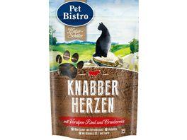 Pet Bistro Katzensnack Crispinies mit Voralpenrind und Cranberries