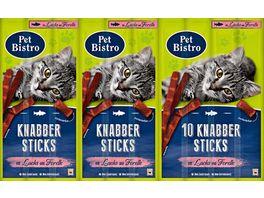 Pet Bistro Katzensnack Knabbersticks mit Lachs und Forelle