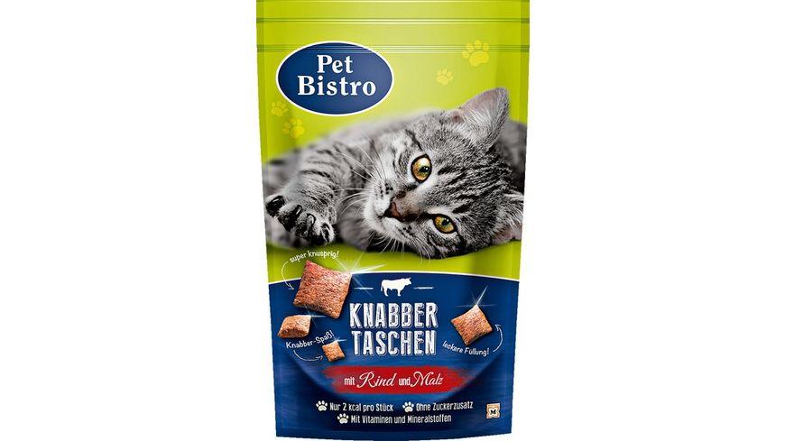 Pet Bistro Katzensnack Knabbertaschen mit Rind und Malz
